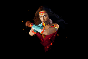 Wonder Woman Abstract Art Wallpaper