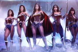 Wonder Woman And His Team 4k Art