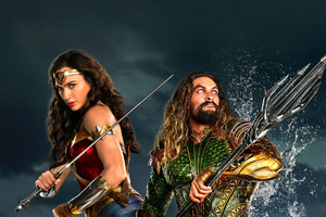 Wonder Woman Aquaman Justice League 2017 Wallpaper