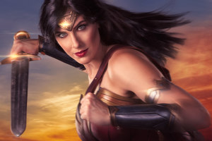 Wonder Woman Cosplay 4k Wallpaper