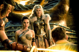 Wonder Woman Gal Gadot Connie Nielsen Wallpaper