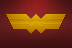 Wonder Woman Logo Art Wallpaper