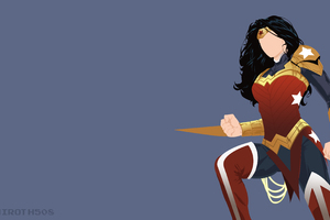 Wonder Woman Minimalist Wallpaper