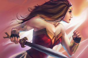 Wonder Woman Paint Art Wallpaper