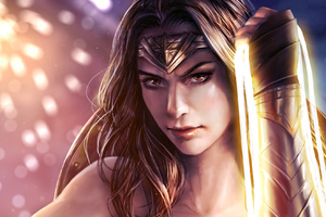 Wonder Woman Paint Artwork Wallpaper