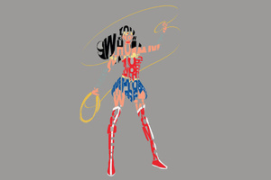 Wonder Woman Typography 4k