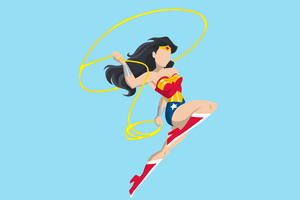 Wonder Woman Vector Style Wallpaper