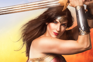 Wonder Woman With Sword Cosplay 4k Wallpaper