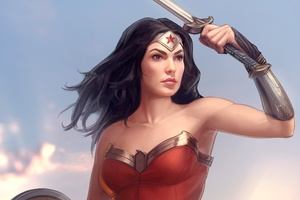 Wonder Women Comic Book Artwork Wallpaper
