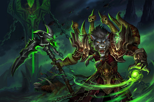 World of Warcraft Worgen Warlock Wallpaper
