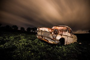 Wrecked Vintage Car