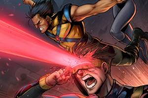 X Men Cyclops Wolverine Comic Artwork