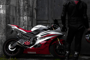 Yamaha R6 Rider Wallpaper