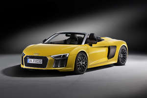 Yellow Audi R8 V10 Plus