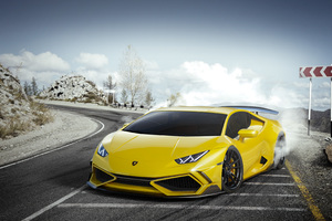 Yellow Lamborghini Huracan 4k Wallpaper