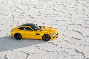 Yellow Mercedes Benz Amg GT