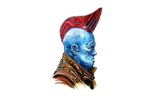 Yondu Guardians Of The Galaxy Minimalism Wallpaper