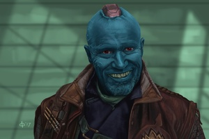 Yondu Guardians Of The Galaxy Vol 2 Artwork Wallpaper