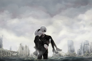 YoRHa No 2 Type B And Type S Nier Automata Wallpaper