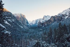 Yosemite Winter 4k Wallpaper