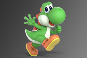 Yoshi Super Smash Bros Ultimate Wallpaper