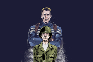 Young And Old Steve Rogers Artwork