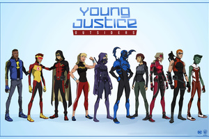 Young Justice Outsiders 2017 Wallpaper