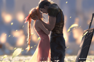 Zack And Aerith Final Fantasy Artwork
