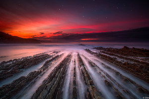 Zumaia Flysch Spain 5k Wallpaper