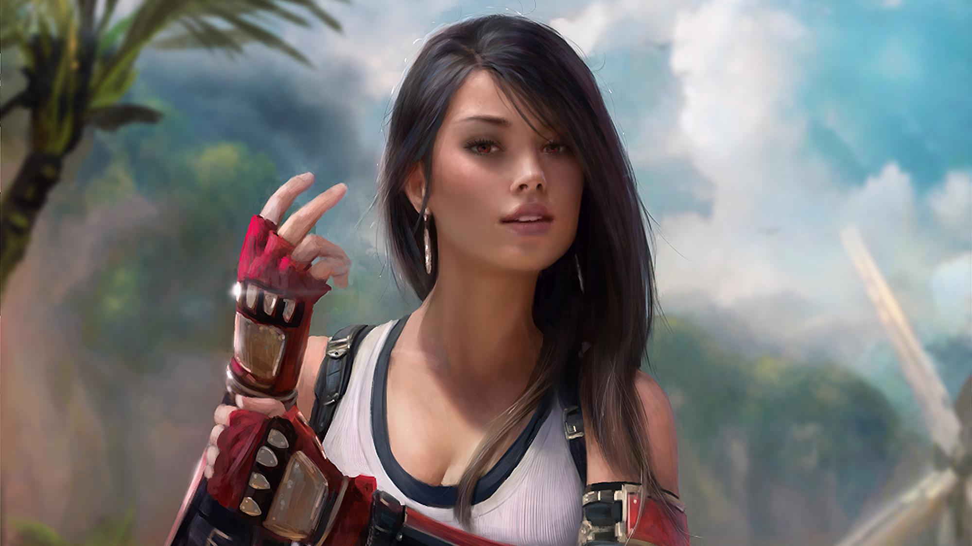 2560x1600 Tifa Lockhart Final Fantasy Game Artwork 2560x1600
