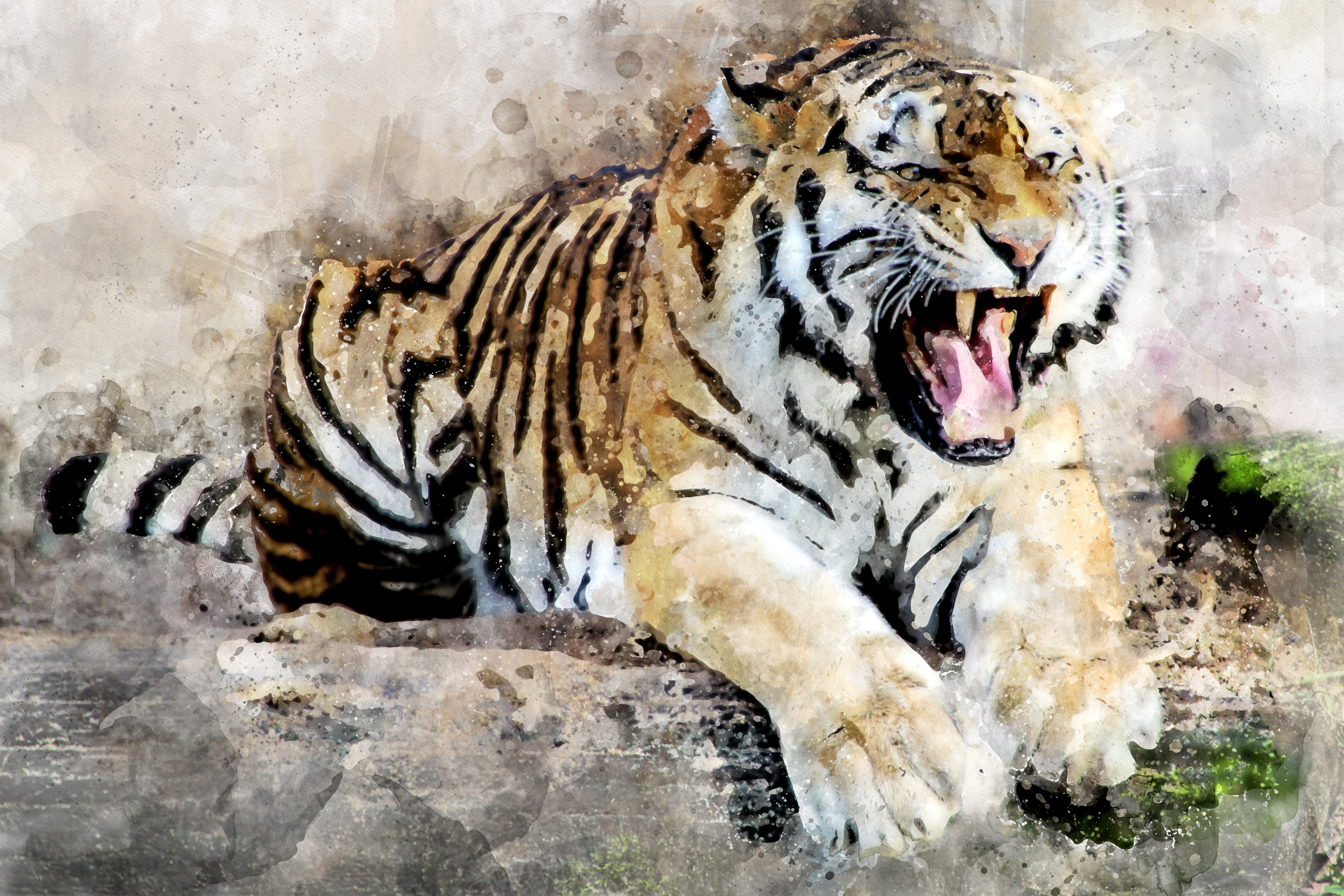 tiger abstract art 4k hd artist 4k wallpapers images backgrounds photos and pictures. Black Bedroom Furniture Sets. Home Design Ideas