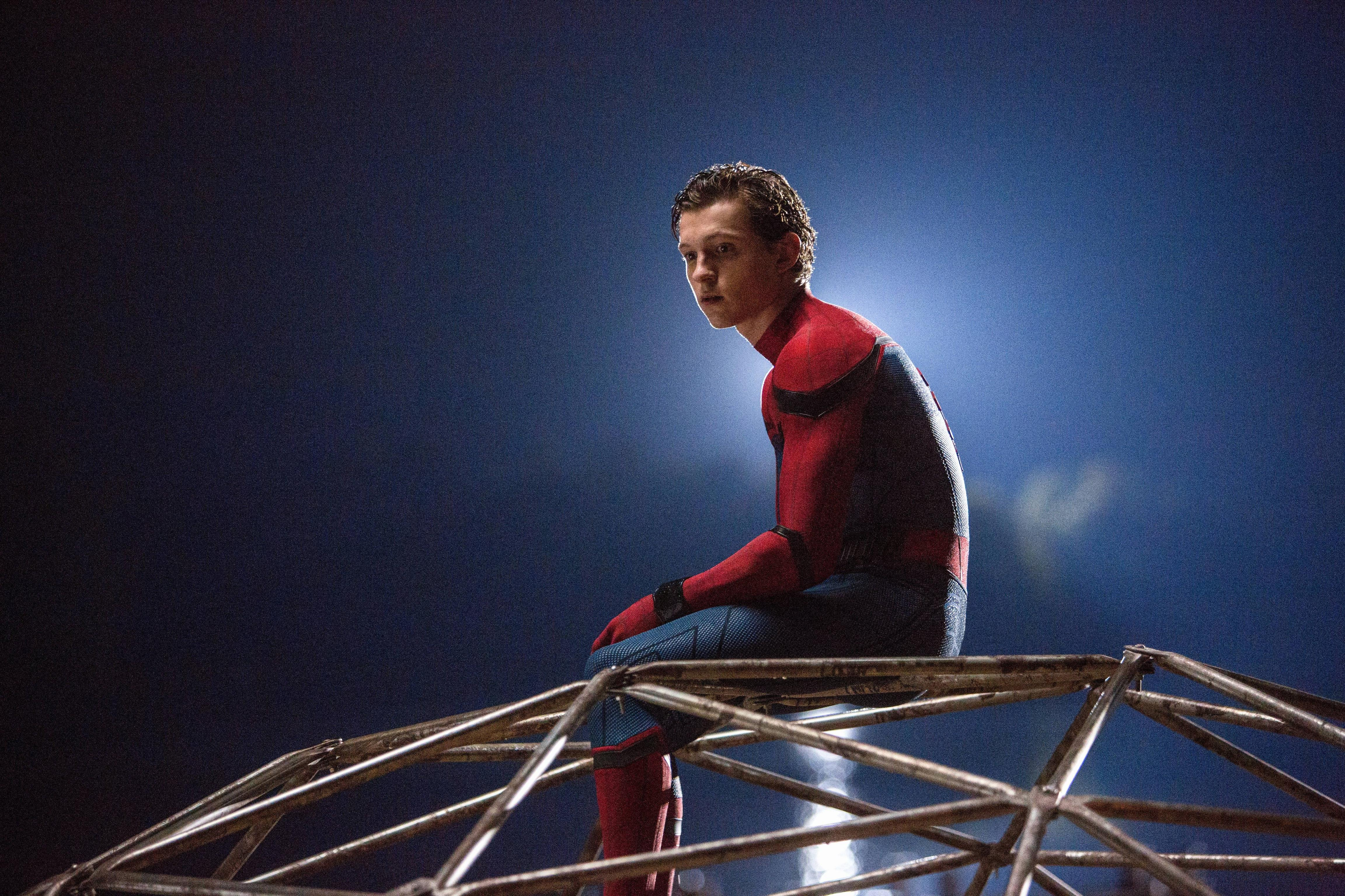 Wallpaper Homecoming: Tom Holland In Spiderman Homecoming, HD Movies, 4k