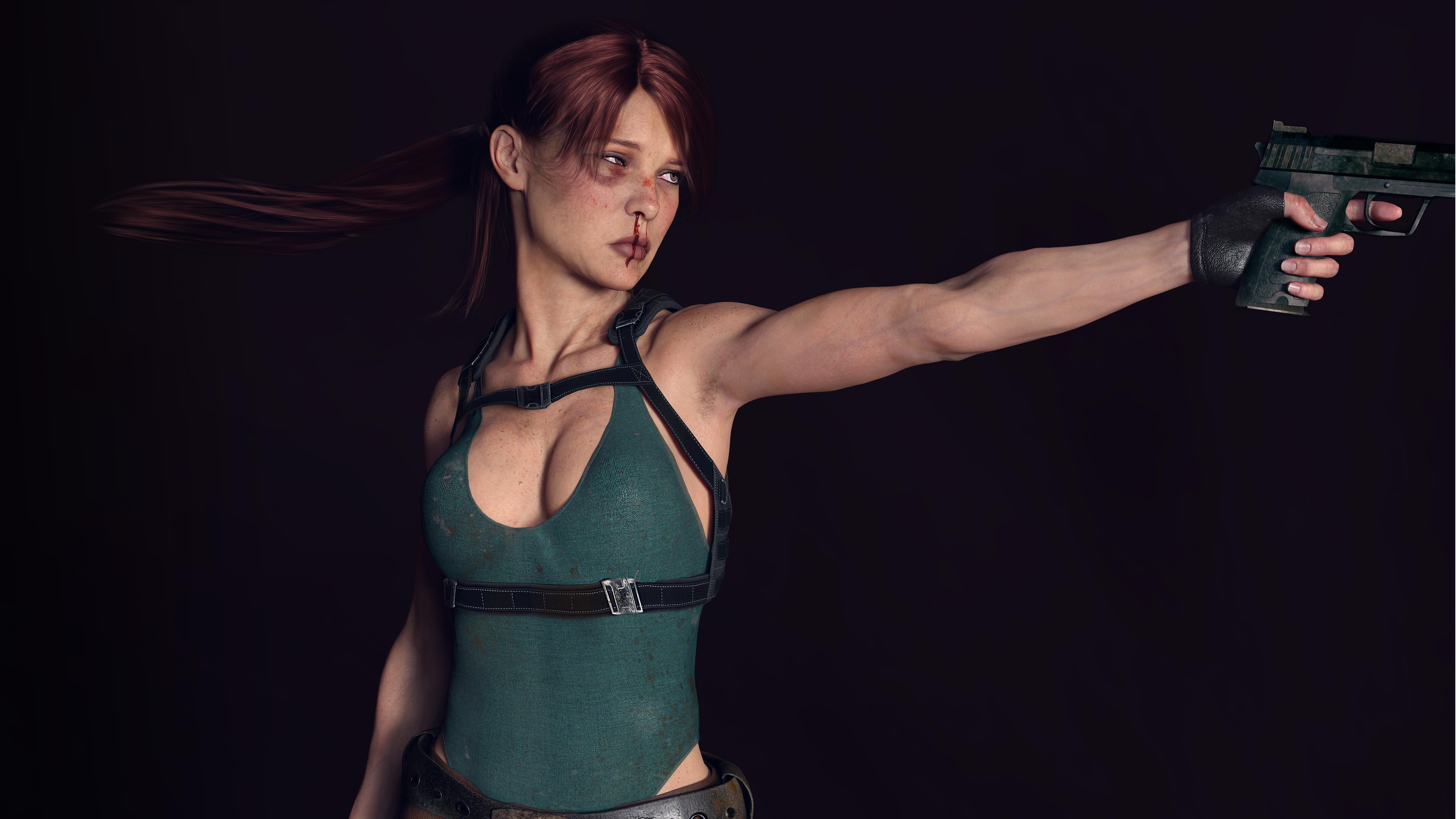 7680x4320 Lara Croft 8k Artwork 8k Hd 4k Wallpapers: Tomb Raider Lara Croft 8k Digital Art, HD Artist, 4k
