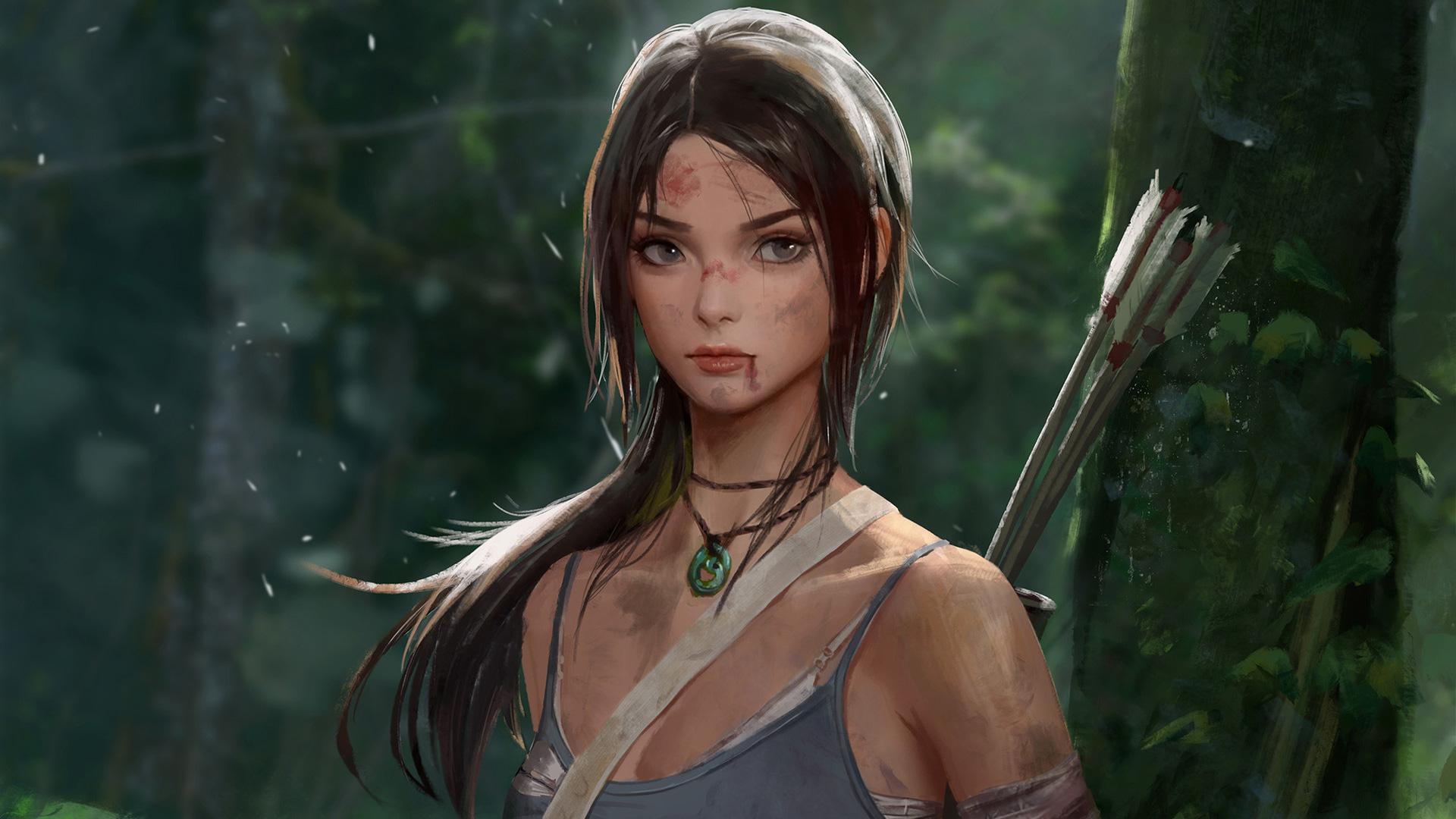 3840x2160 Lara Croft Tomb Raider Artwork 4k Hd 4k: 1920x1080 Tomb Raider Lara Croft Artwork Laptop Full HD