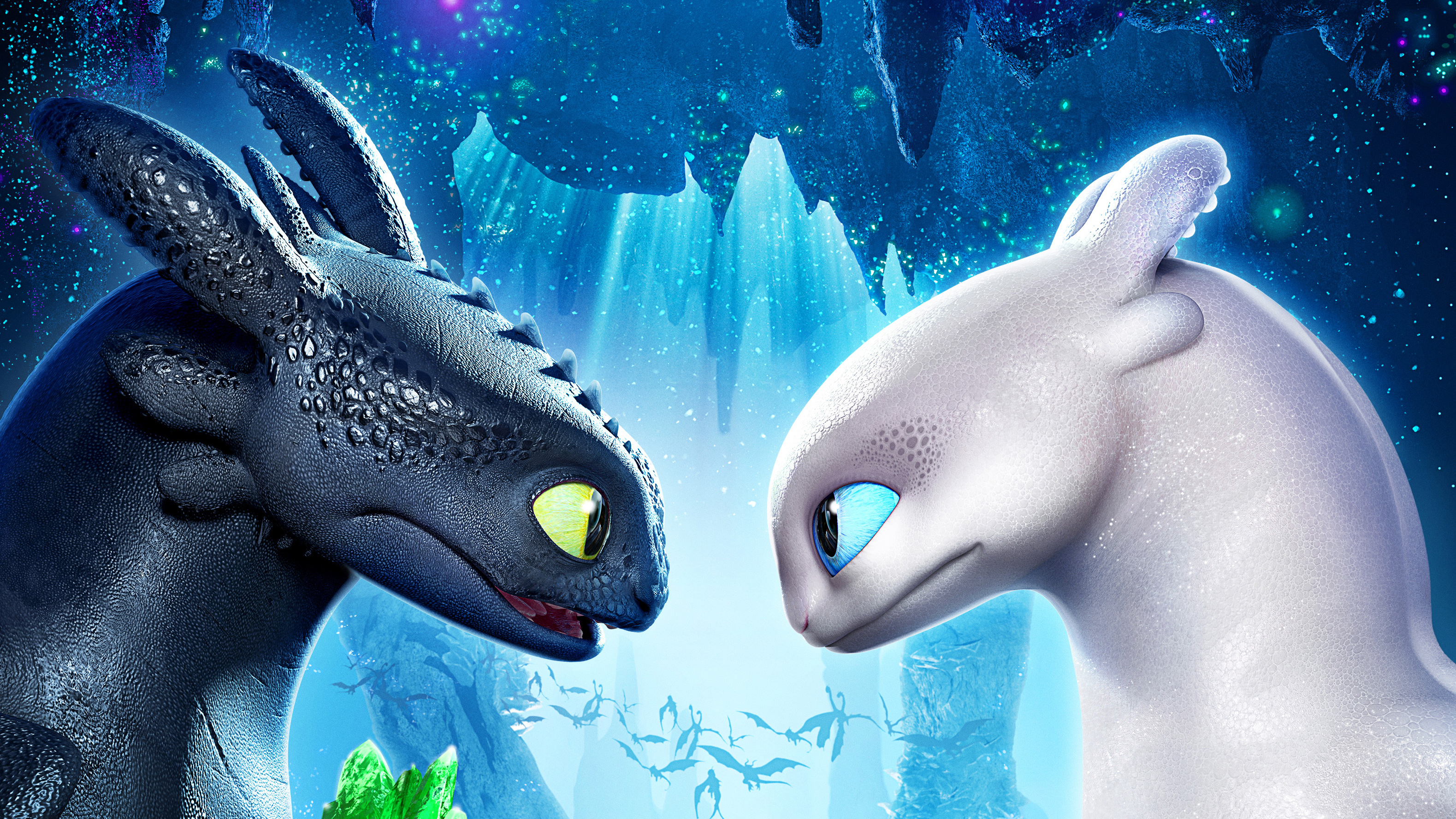 Toothless with his girlfirend night fury 4k hd movies 4k - Toothless wallpaper ...