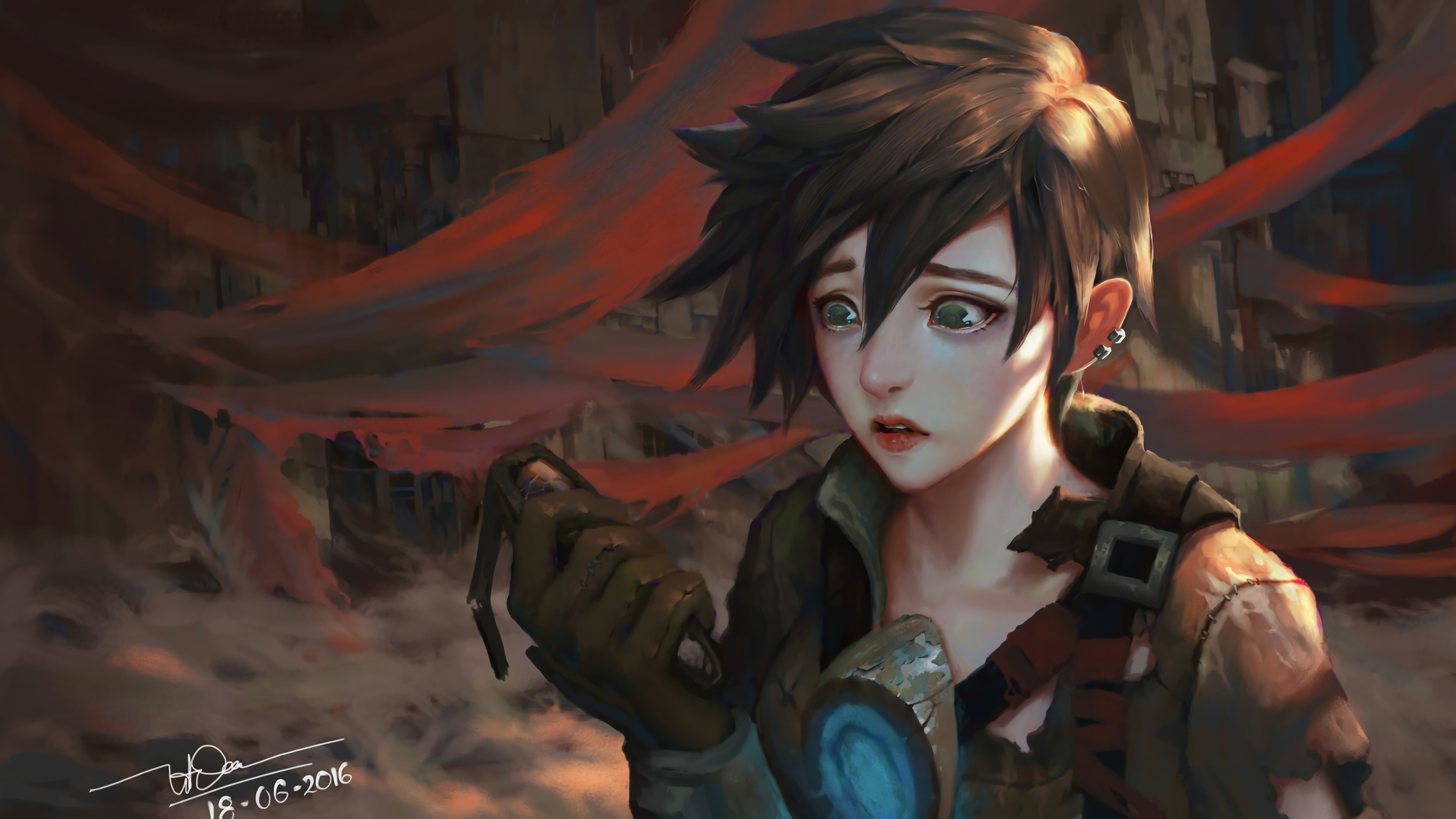 389 Tracer (Overwatch) HD Wallpapers | Backgrounds - Wallpaper ...