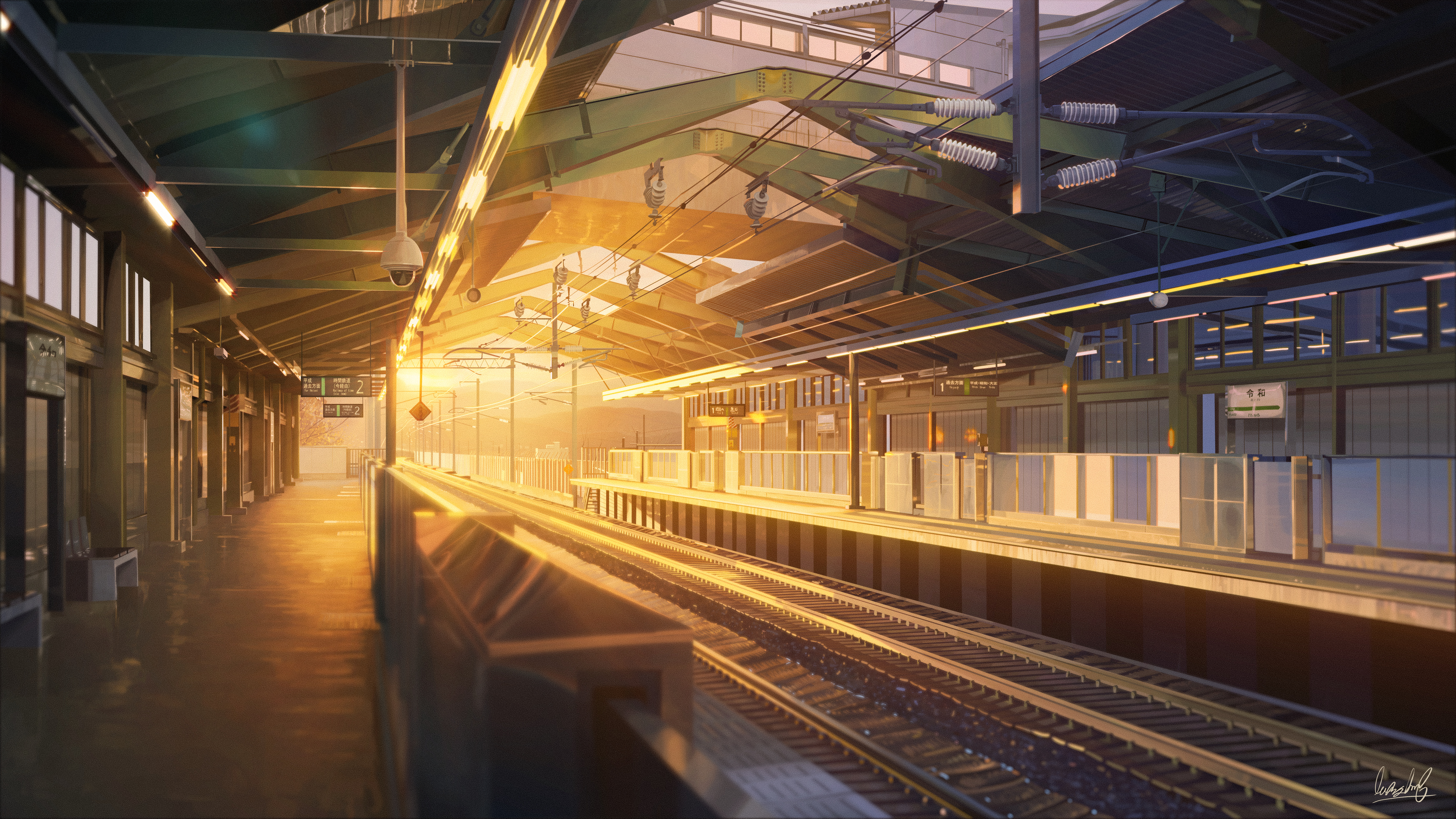 Train Station Anime 5k Hd Anime 4k Wallpapers Images