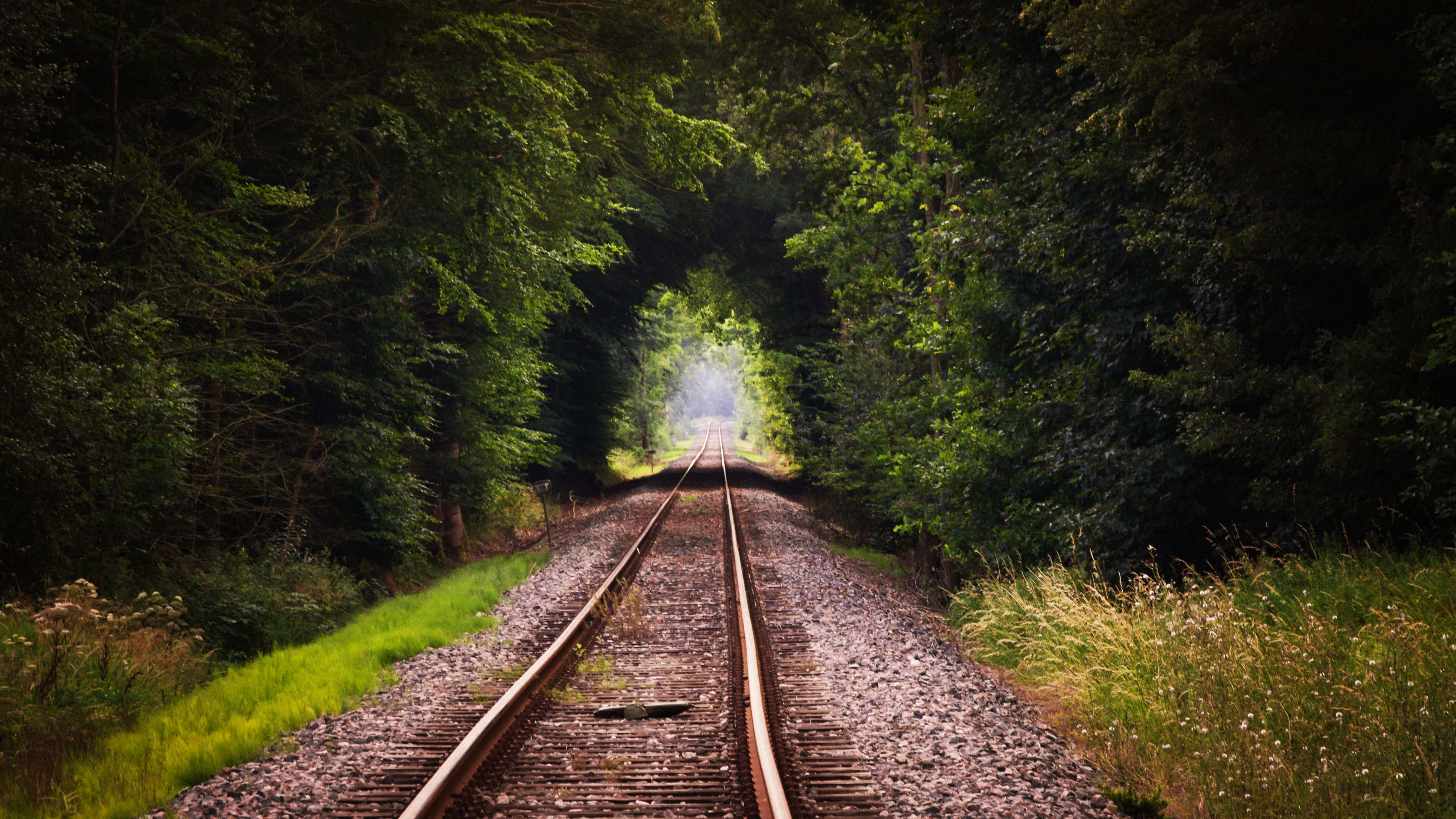 Train track hd nature 4k wallpapers images backgrounds photos and pictures - Track wallpaper hd ...