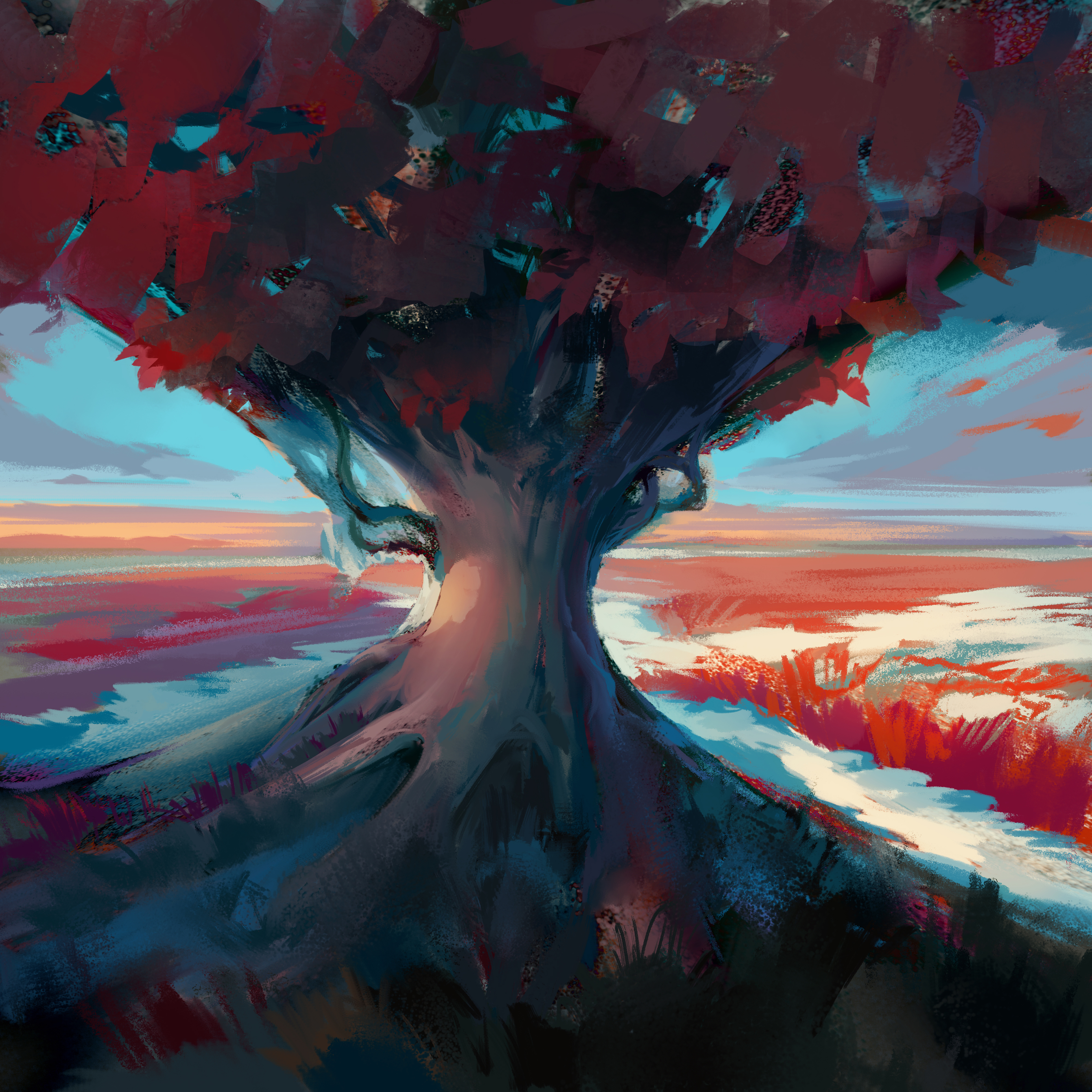 1366x768 Tree Digital Art 4k 1366x768 Resolution HD 4k
