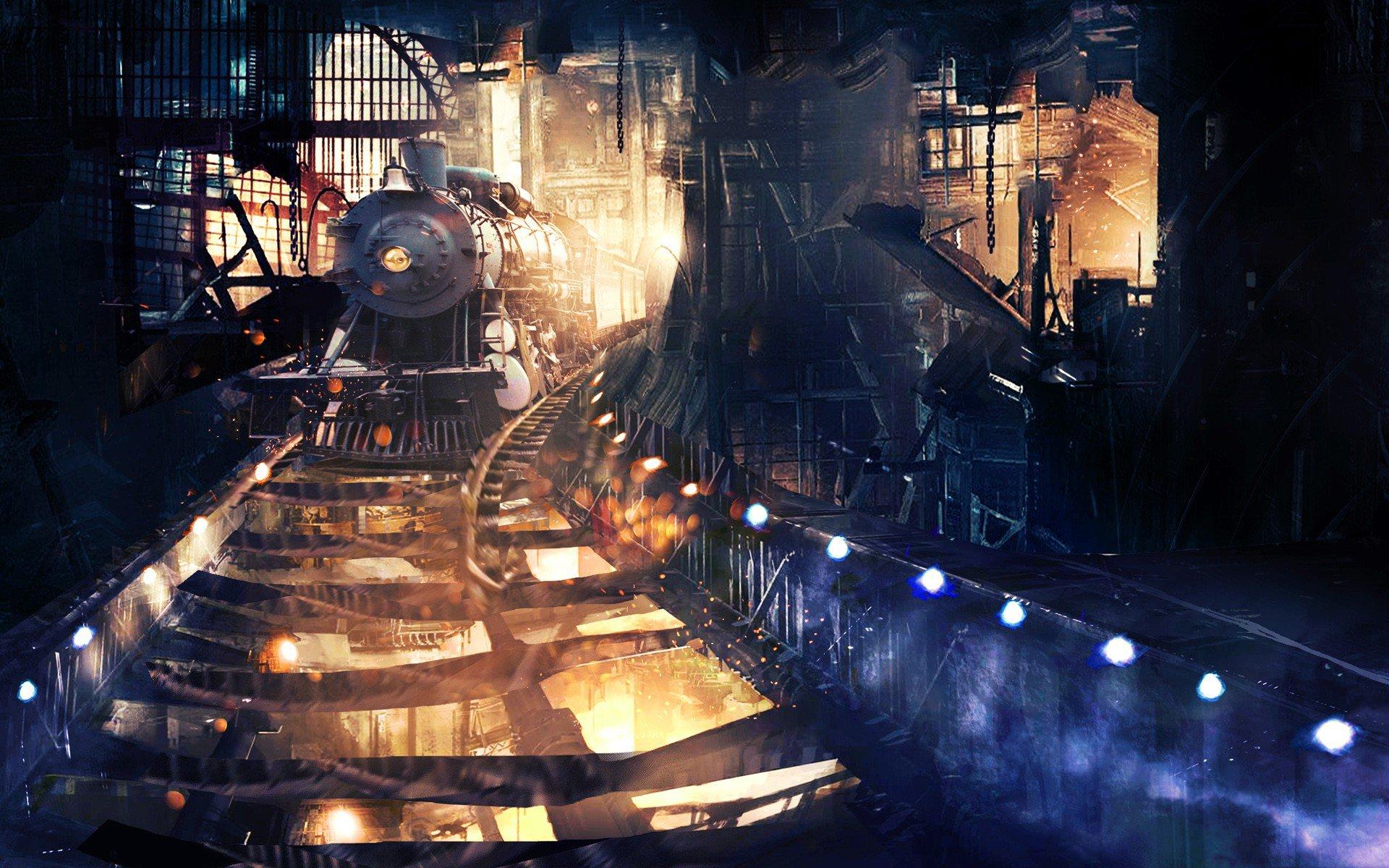 Train Travel Fantasy 4k Hd Desktop Wallpaper For Wide: Tunnel Train Art, HD Artist, 4k Wallpapers, Images