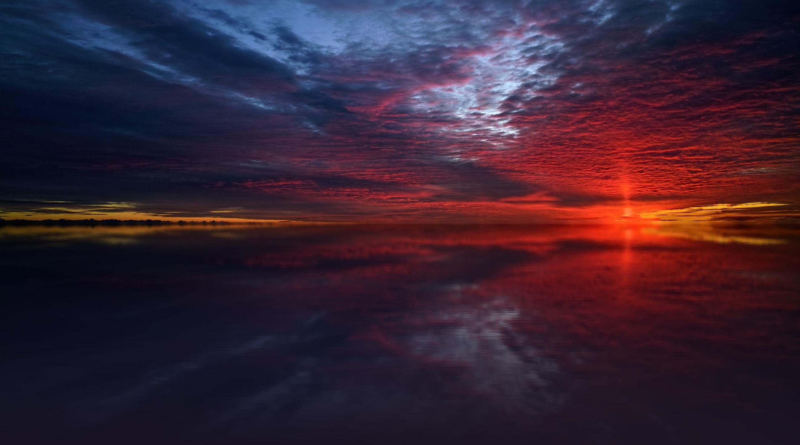Twilight Sea Stars Dusk Dawn Dark Sunset, HD Nature, 4k ...