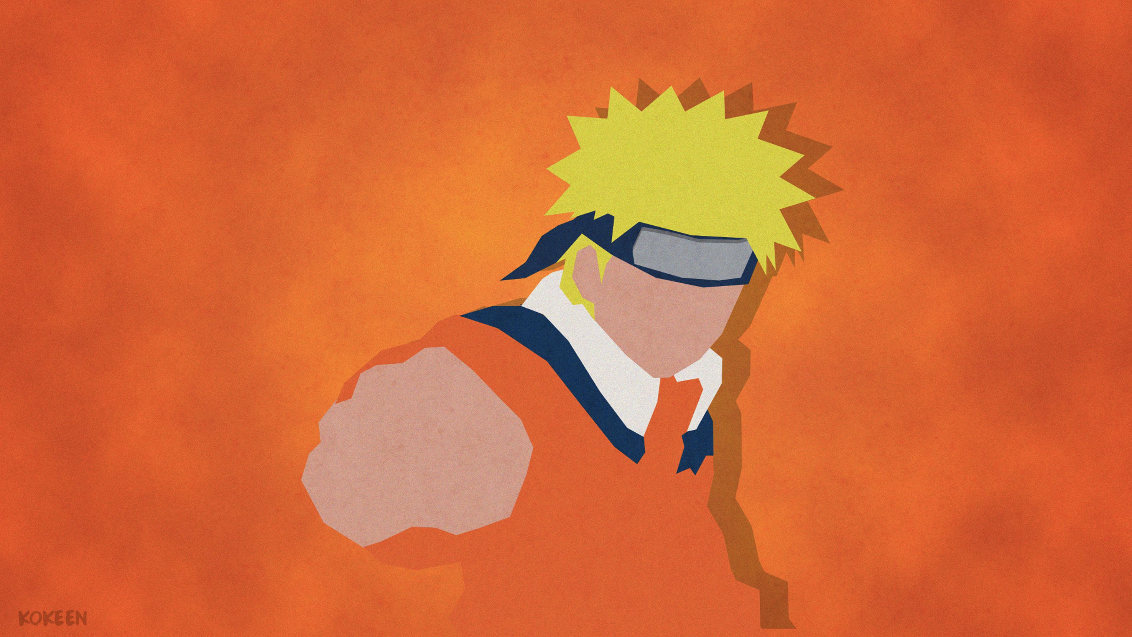Uzumaki Naruto Shippuuden Minimalism 4k Hd Anime 4k Wallpapers