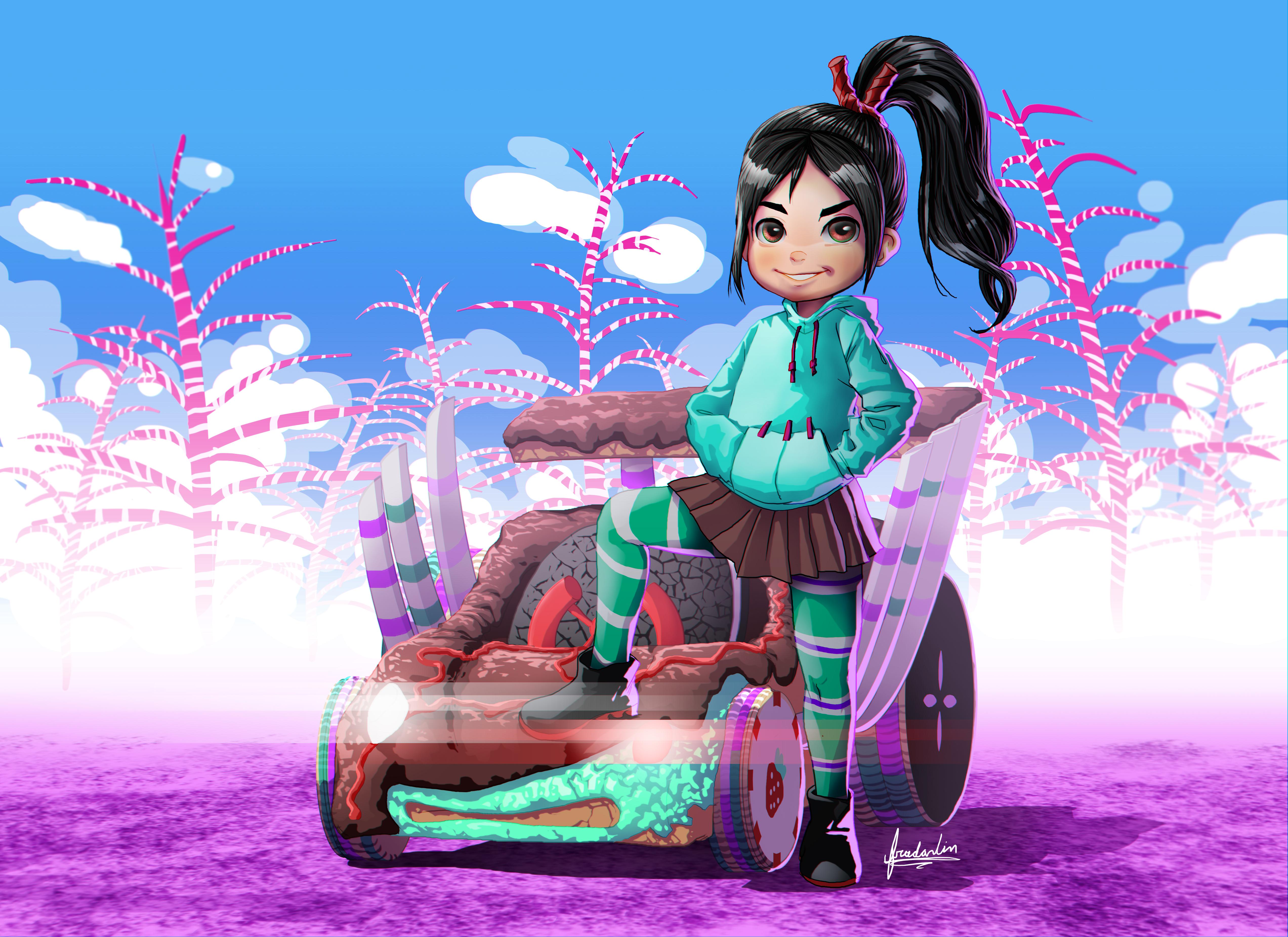 Wreck It Ralph Animation Movie 4k Hd Desktop Wallpaper For: Vanellope Von Schweetz Fan Art, HD Movies, 4k Wallpapers