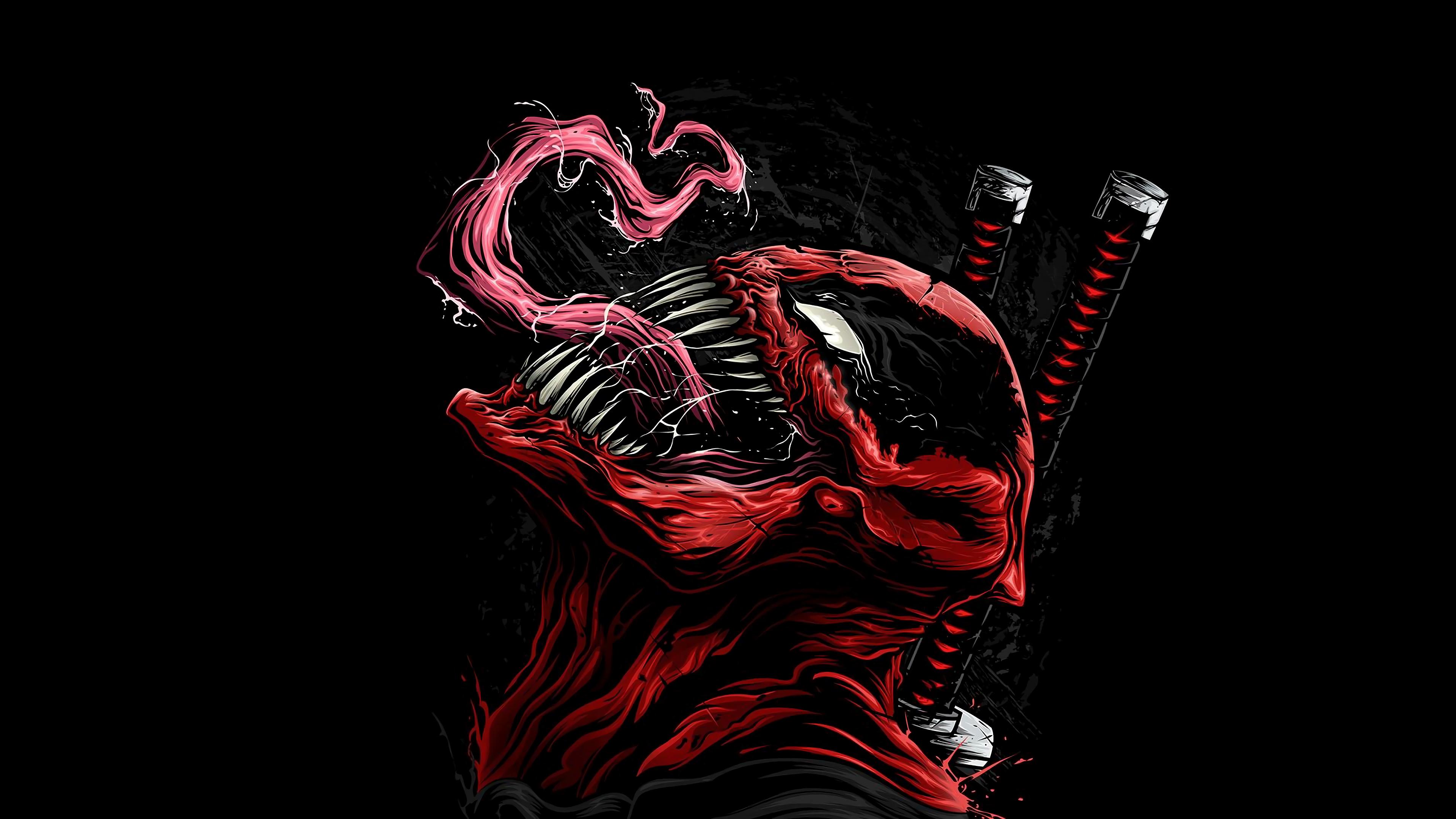 Venom As Deadpool Art, HD Superheroes, 4k Wallpapers ...