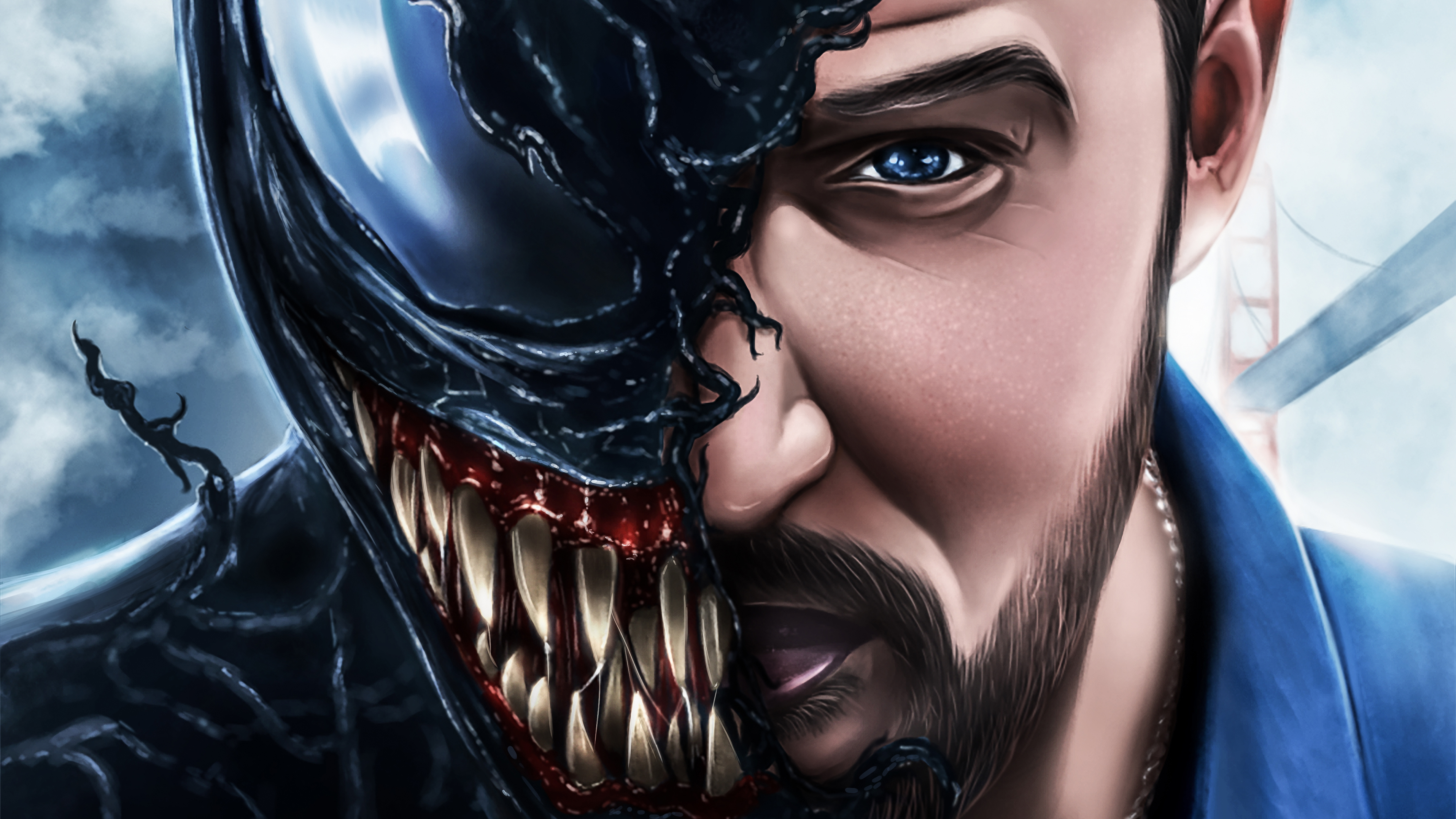 Venom movie artwork 4k 2018 hd superheroes 4k wallpapers - 4k wallpaper venom ...