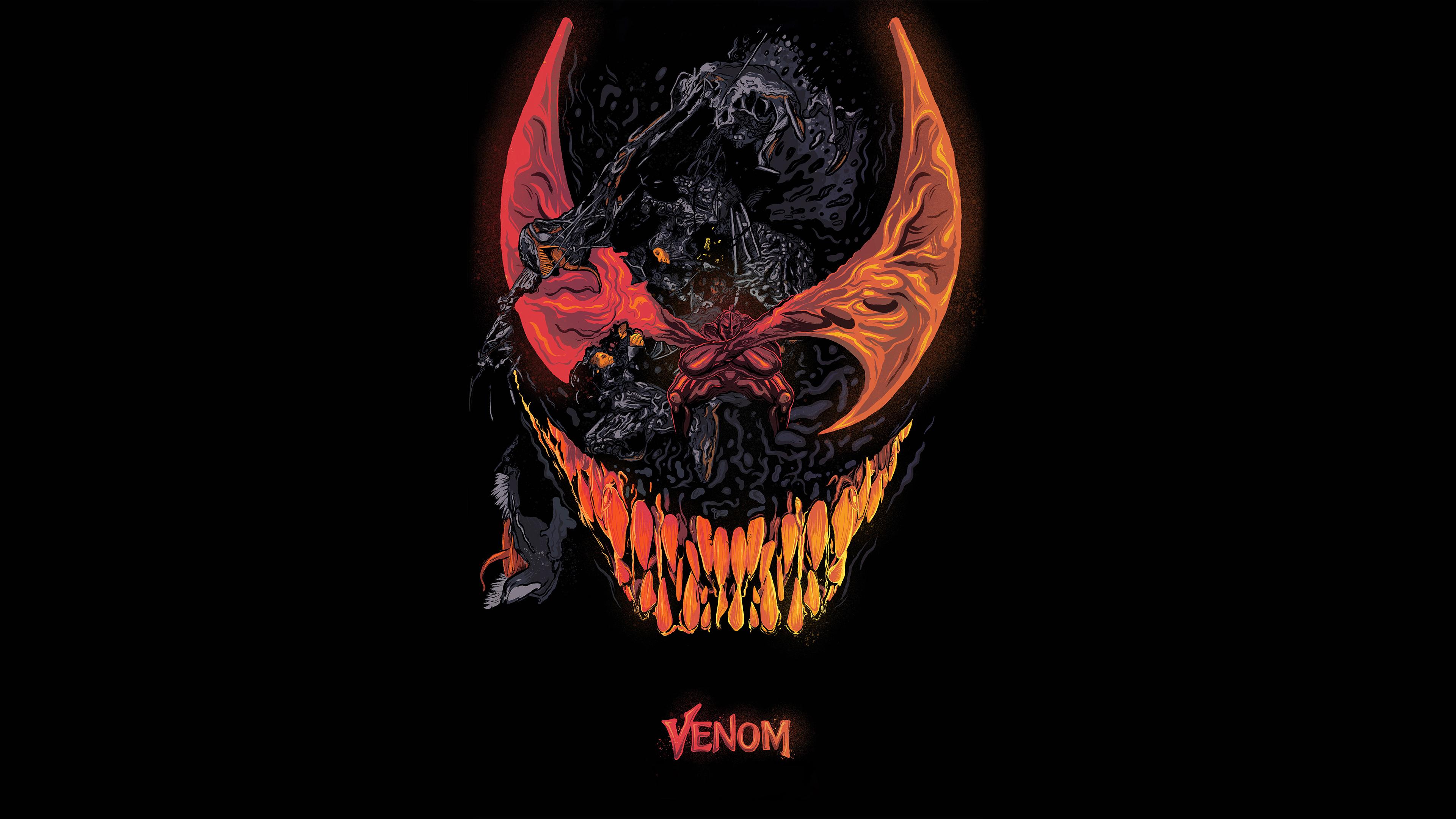 Venom Movie Artworks 4k, HD Superheroes, 4k Wallpapers ...