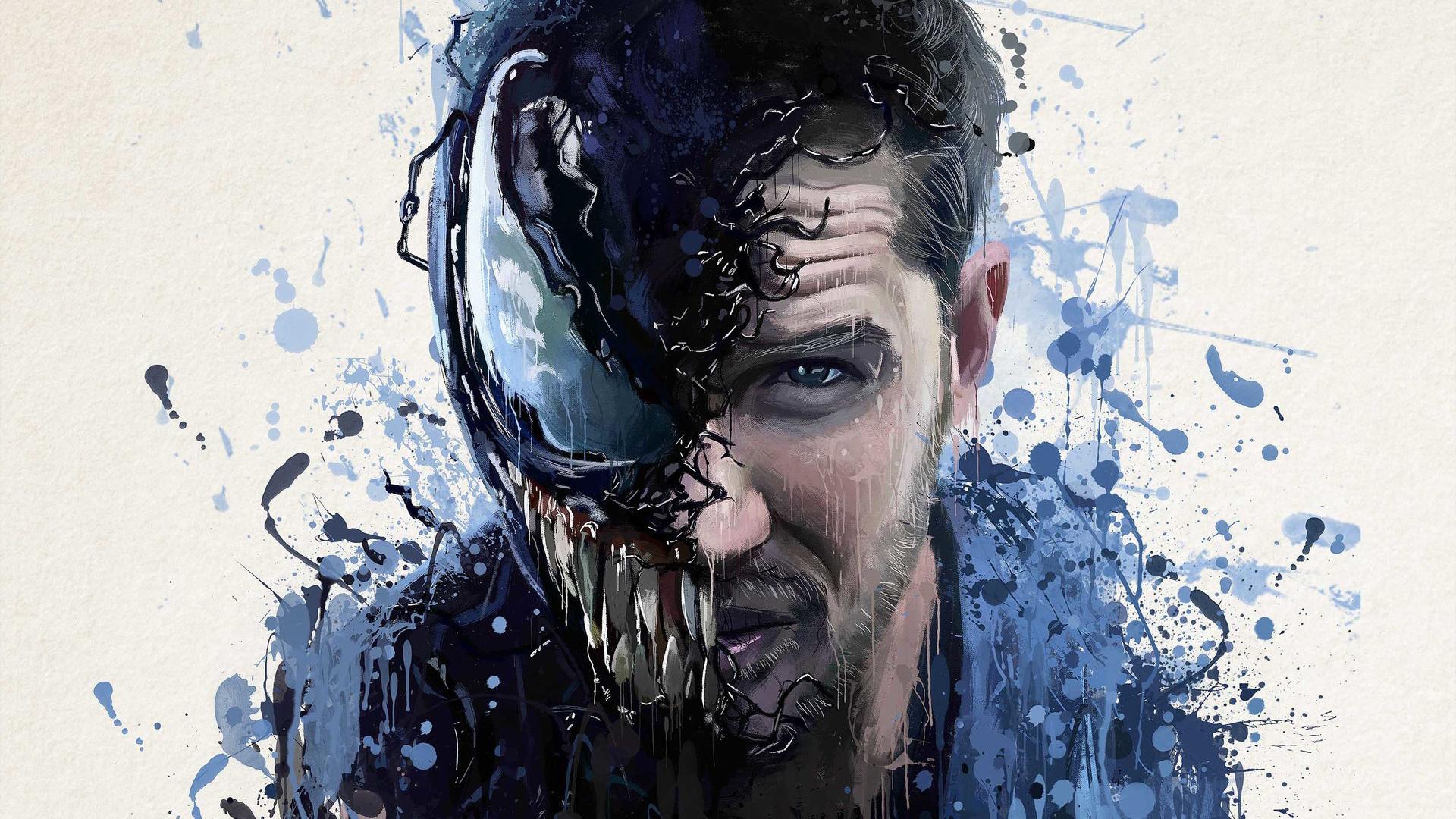 Venom Movie Splash Art Hd Superheroes 4k Wallpapers Images