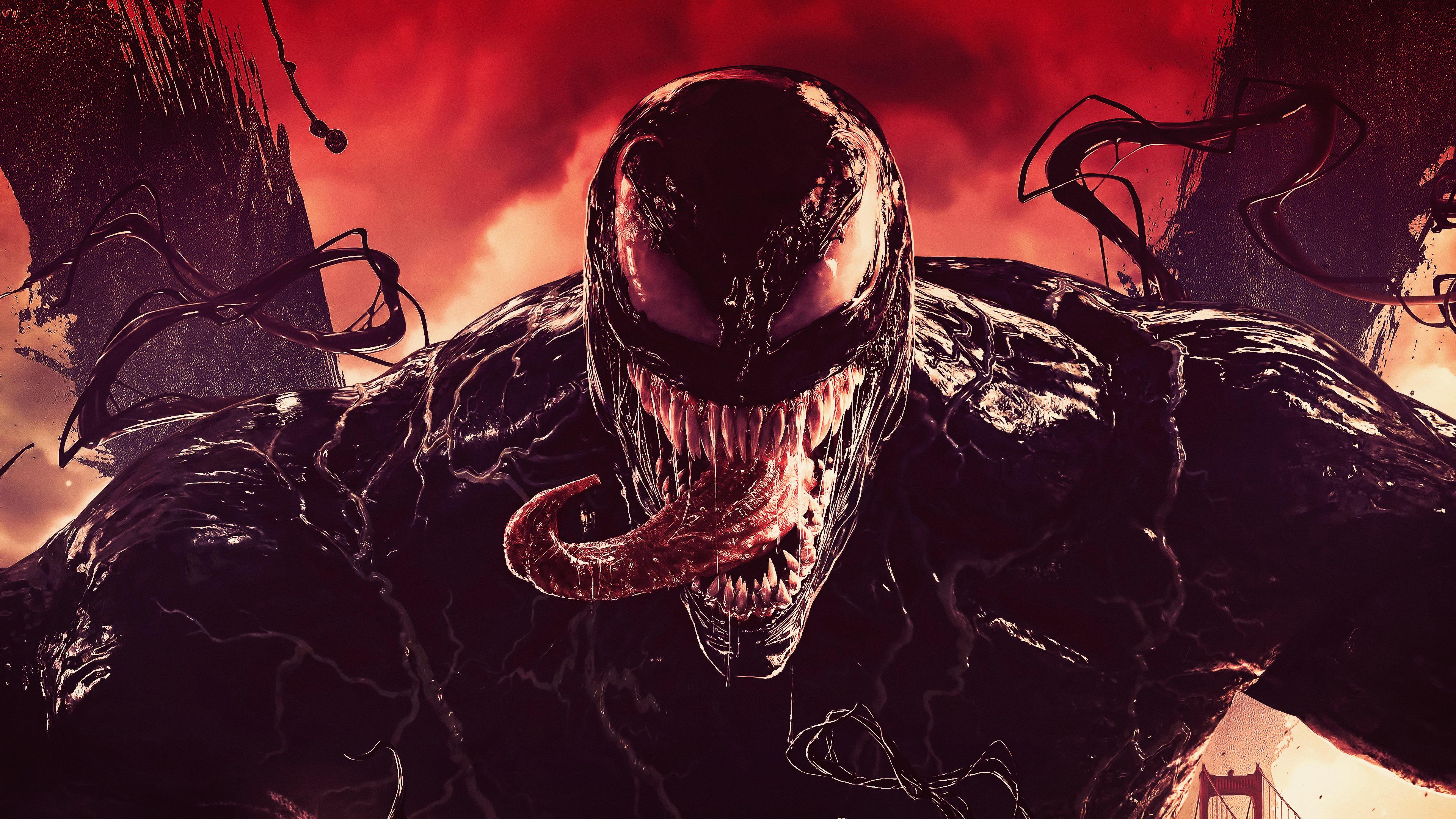 Venom tounge out digital art 4k hd superheroes 4k - 4k wallpaper venom ...