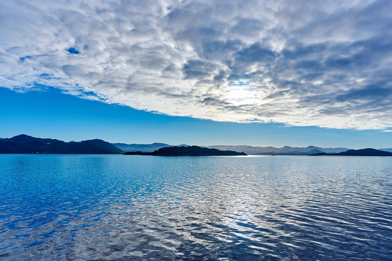 Vibrant Clouds Over Lake Seascape, HD Nature, 4k ...