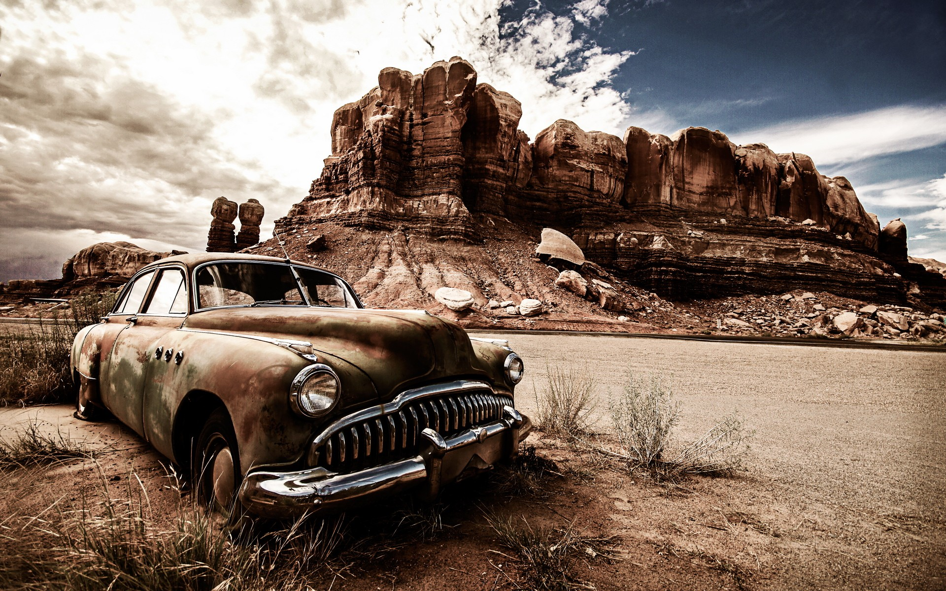 1366x768 Vintage Dusty Car 1366x768 Resolution Hd 4k Wallpapers